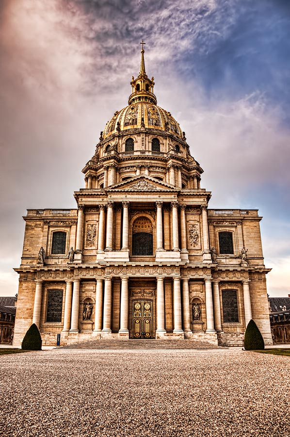 Dôme des Invalides in Paris, France, which contains the tomb of Napoleon Boneparte