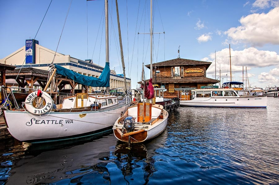 Center for wooden boats on lake union in Seattle