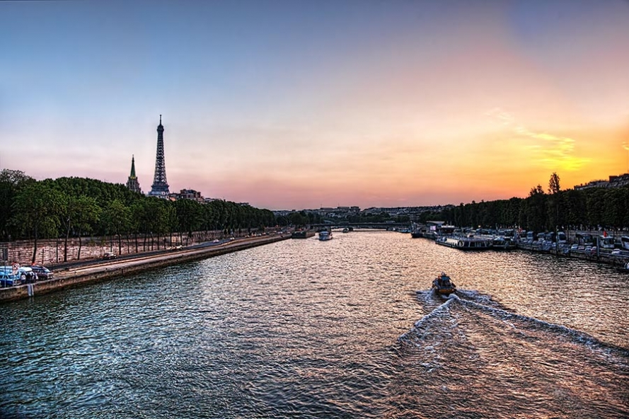 sunset from pont de l
