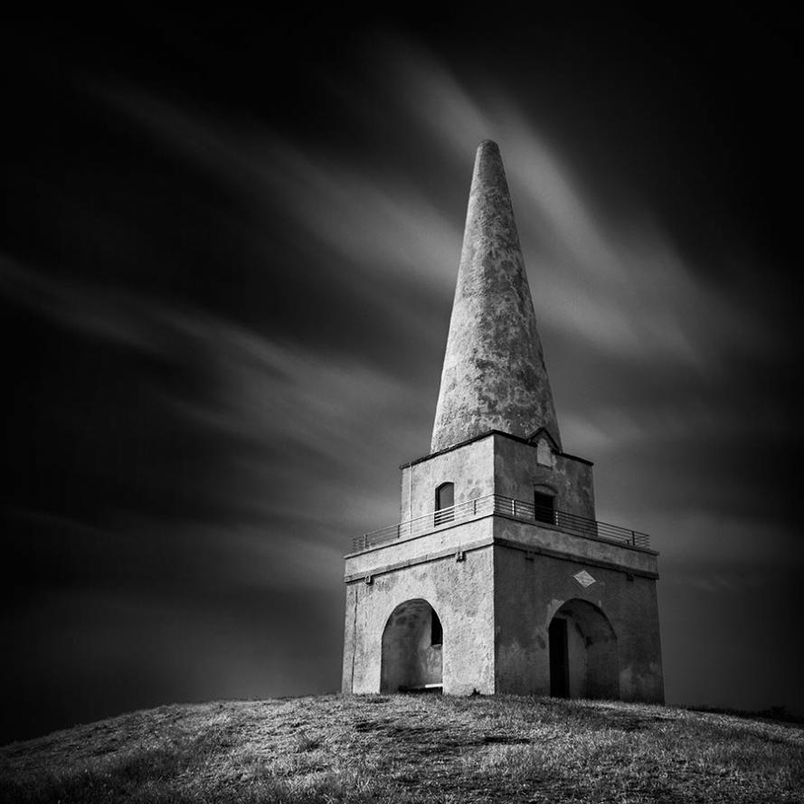 Killiney Hill obelisk near Dublin Ireland